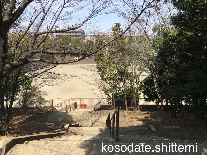 赤田東公園のグラウンド(上から)