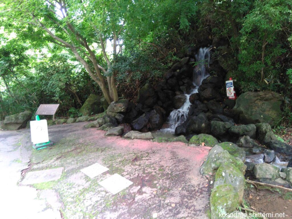 「こどもの国」のせせらぎ 始まりの滝