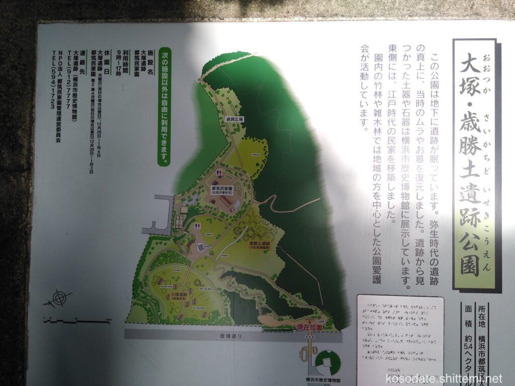 大塚・歳勝土遺跡公園 マップ