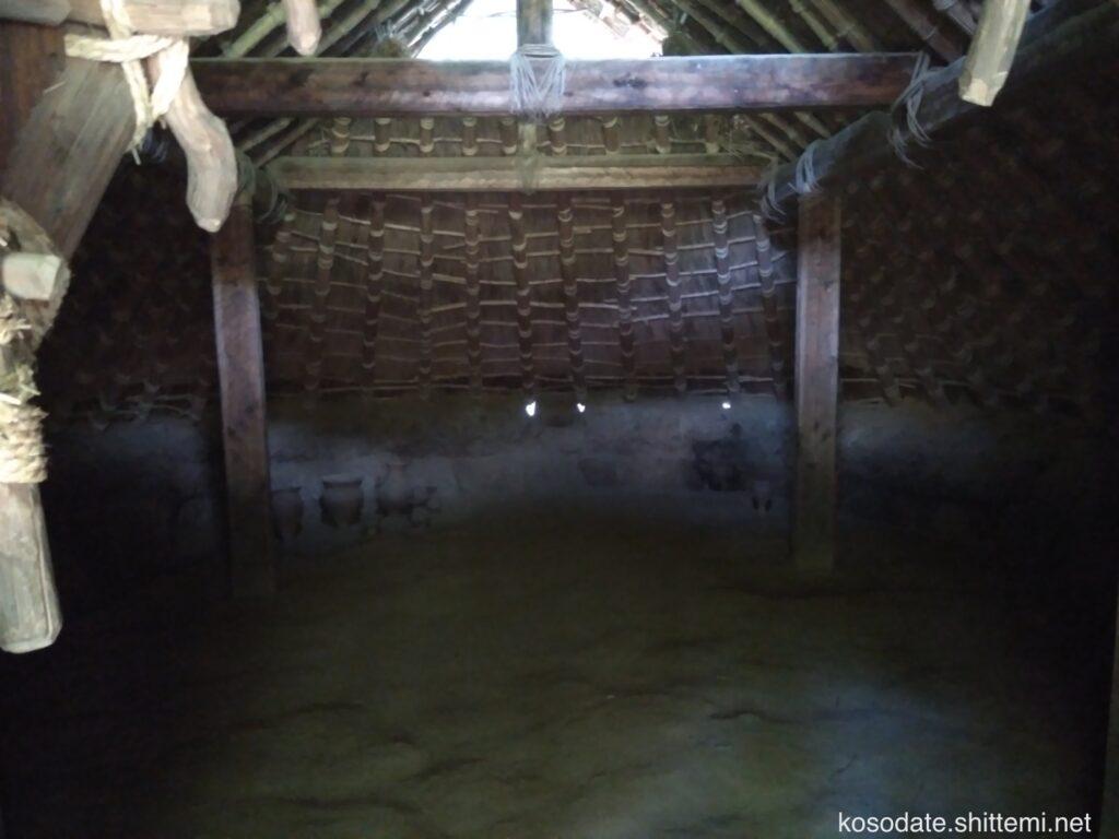 大塚遺跡 竪穴住居内部