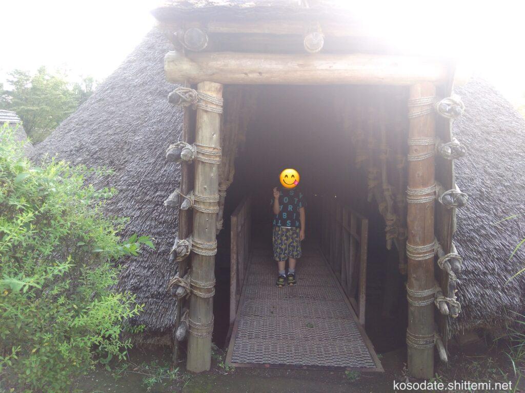 大塚遺跡 竪穴住居の入り口