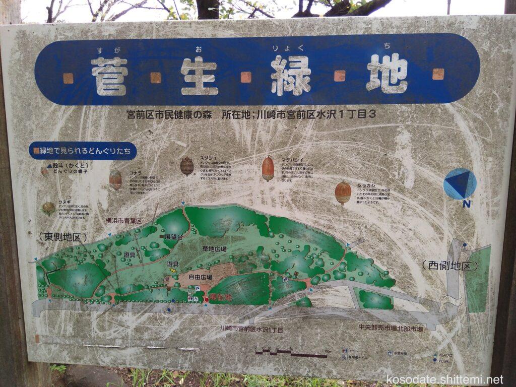 菅生緑地 看板